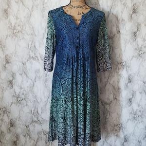 Reborn New York| Midi Ombre Dress
